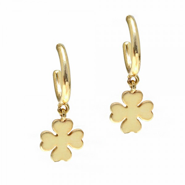 Earrings silver 925 yellow gold plated GRE-55730