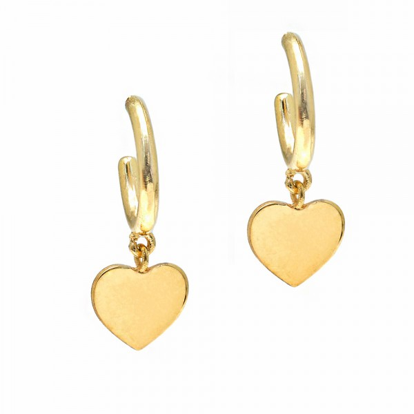Earrings silver 925 yellow gold plated GRE-55731