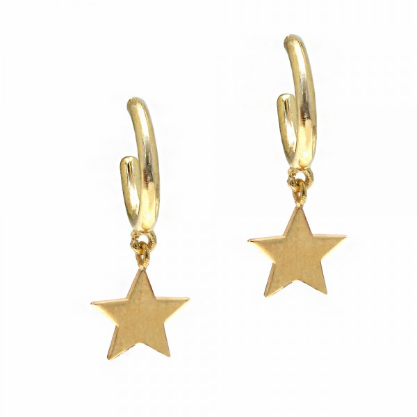 Earrings silver 925 yellow gold plated GRE-55732