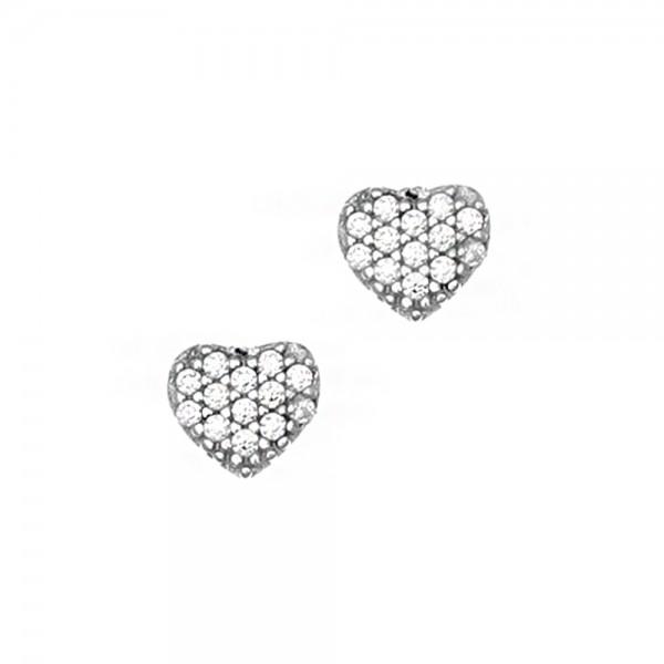 Σκουλαρίκια ασήμι 925 επιπλατινωμένα με ζιργκόν GRE-45697