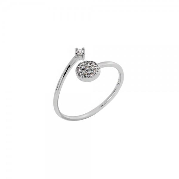 Δαχτυλίδι ασήμι 925 επιπλατινωμένο με ζιργκόν PS/9C-RG055-1