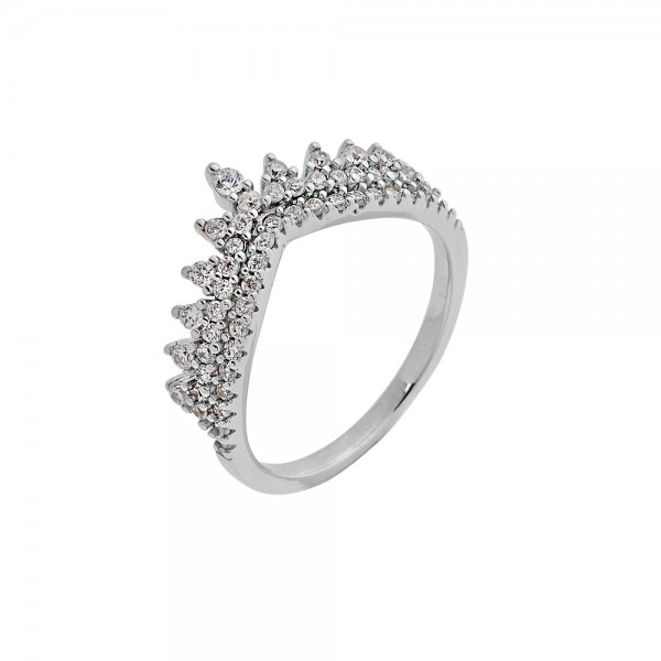 Δαχτυλίδι ασήμι 925 επιπλατινωμένο με ζιργκόν PS/8A-RG083-1