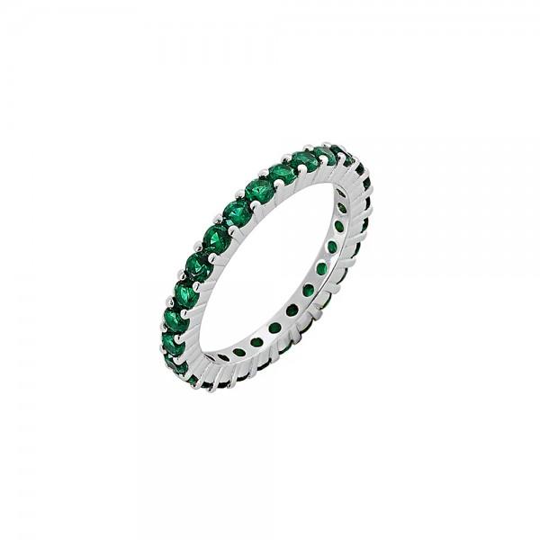 Δαχτυλίδι ασήμι 925 επιπλατινωμένο με ζιργκόν PS/9B-RG062-1E