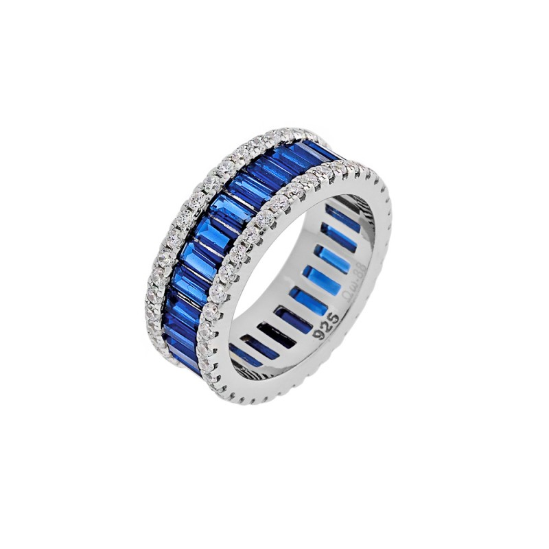 Δαχτυλίδι σε σχήμα βέρας από ασήμι 925 με ζιργκόν PS/9B-RG066-1M