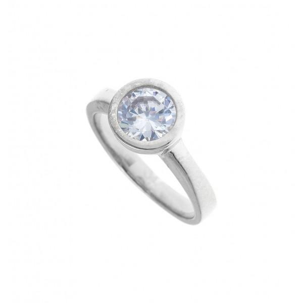 Δαχτυλίδι ασήμι 925 επιπλατινωμένο με zirconia GRE-41183
