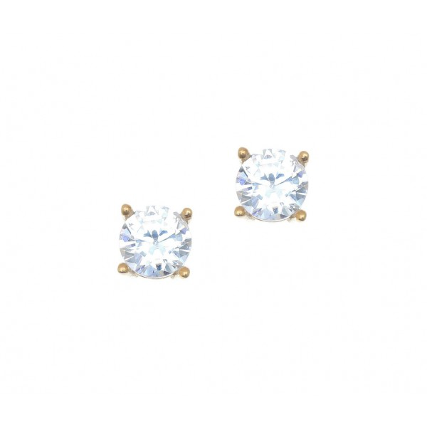 Σκουλαρίκια ασήμι 925 επιχρυσωμένα με zirconia GRE-41665