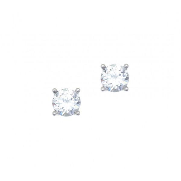 Σκουλαρίκια ασήμι 925 επιπλατινωμένα με zirconia GRE-41669
