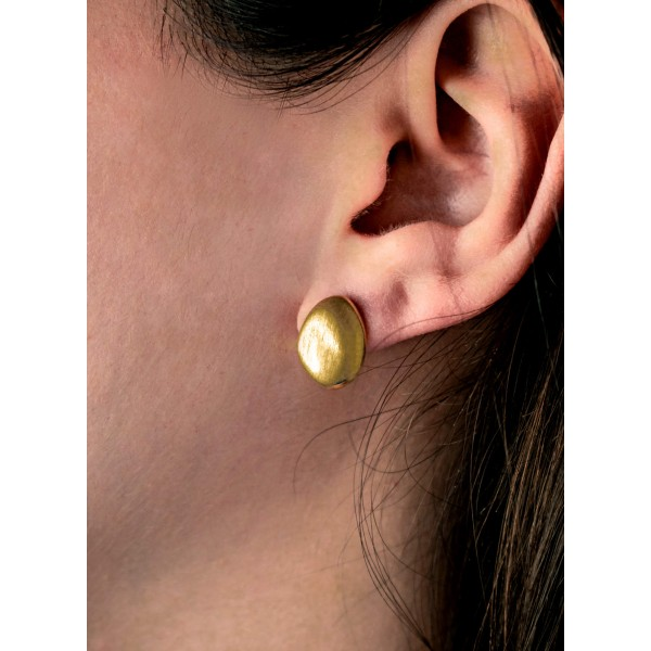Σκουλαρίκια ασήμι 925, με επιχρύσωση GRE-56202