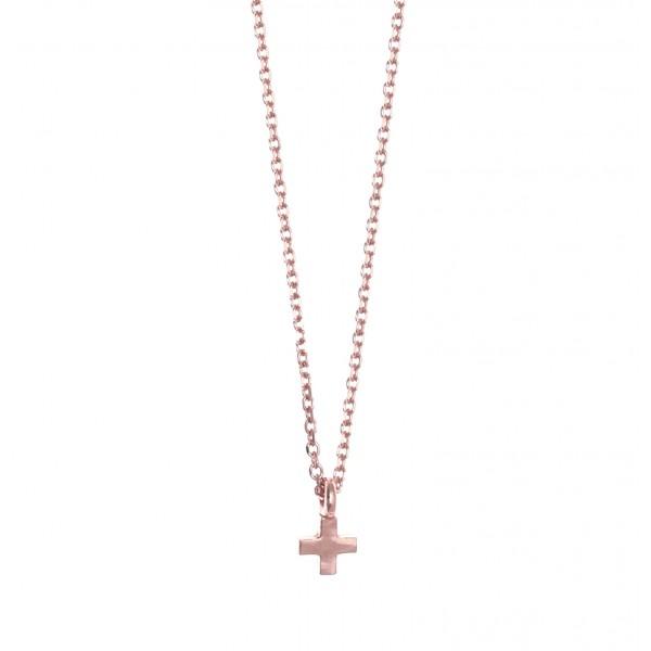 Κολιέ Ασήμι 925 με ροζ επιχρύσωση GRE-51025