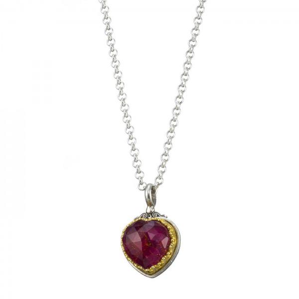 Χειροποίητο Μενταγιόν Καρδιά Ασήμι 925 GER-1712C