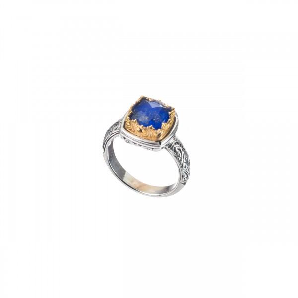 Χειροποίητο Δαχτυλίδι Ασήμι 925 Lapis Lazuli GER-P20028