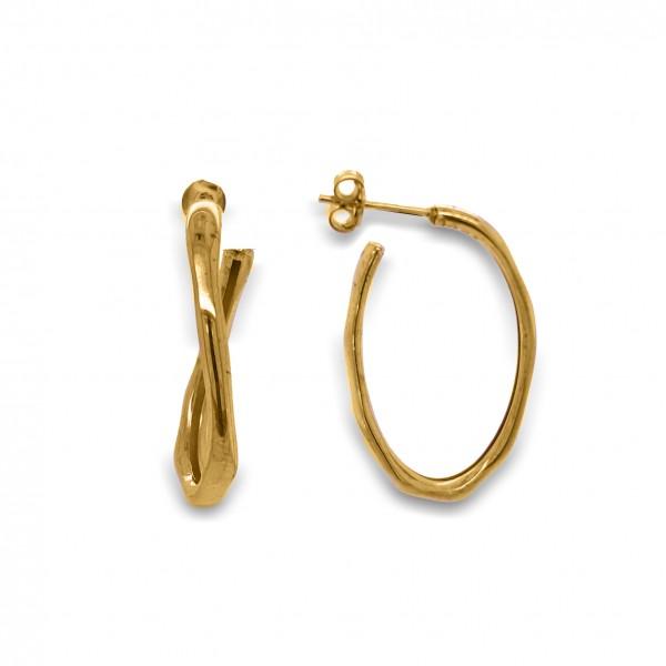Σκουλαρίκια ασήμι 925 επιχρυσωμένο GRE-50335