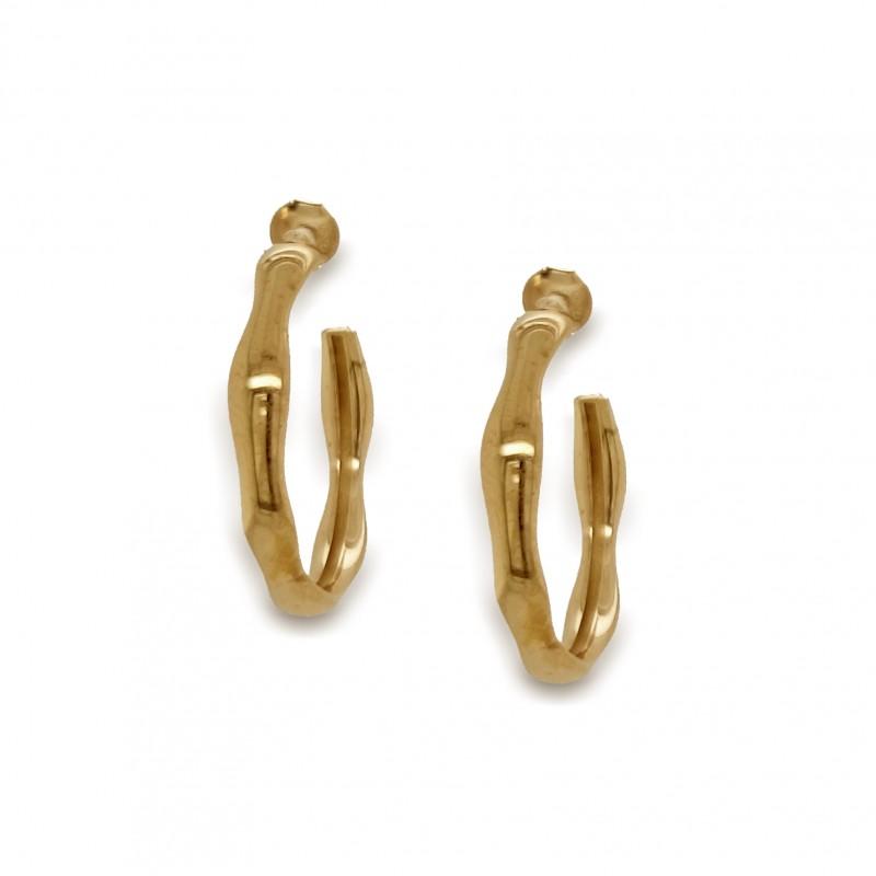 Σκουλαρίκια ασήμι 925 επιχρυσωμένο GRE-50337