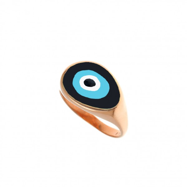 Ring silver 925 pink gold plated GRE-51835