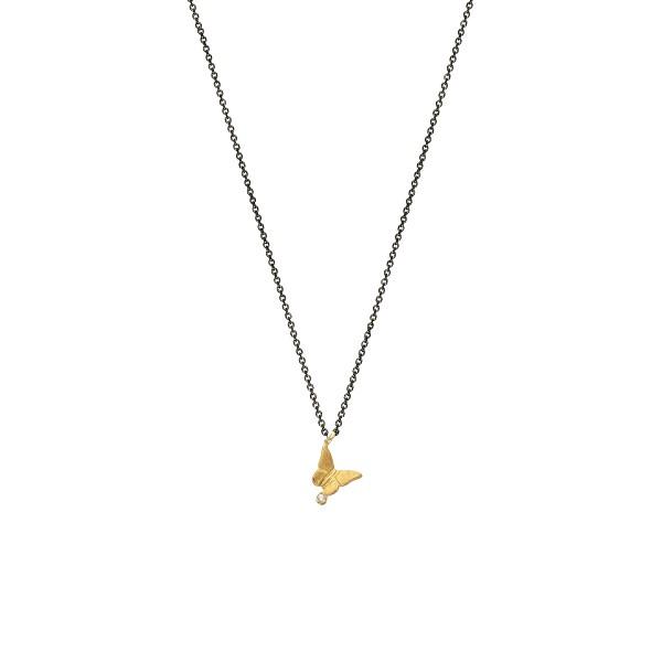 Χειροποίητο Μενταγιόν Χρυσό Κ14 Πεταλούδα KRI-P20