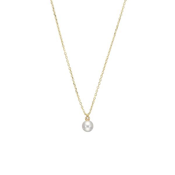 Handmade 14K Gold Pendant wih Pearl KRI-E112(M)