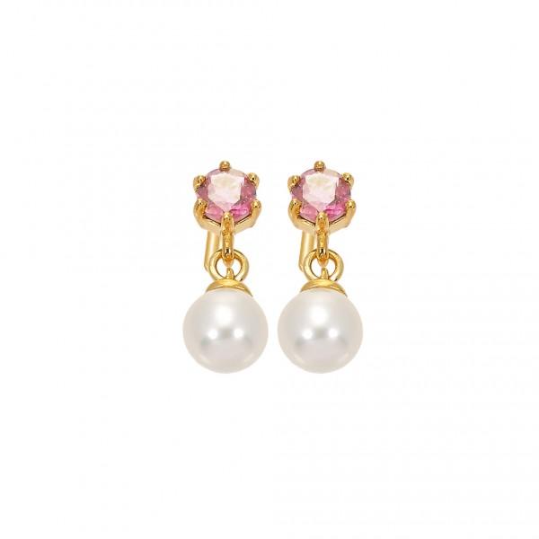 Handmade Earrings 14K Gold with Pearl KRI-S/E290(TP)