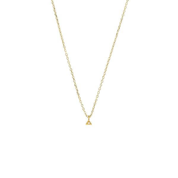 Χειροποίητο Μενταγιόν Χρυσό Κ14 Τριγωνάκι KRI-E194