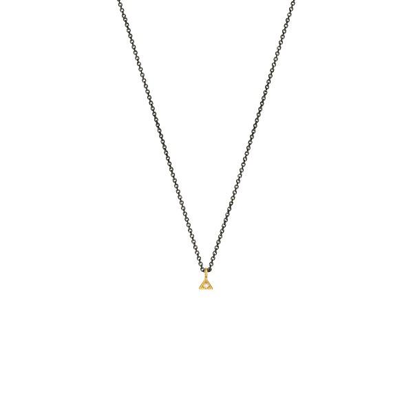 Χειροποίητο Μενταγιόν Χρυσό Κ14 Τρίγωνο KRI-E194