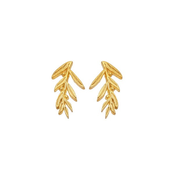 Handmade Earrings 14K Gold Olive KRI-S/M63
