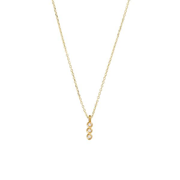 Handmade 14K Gold Pendant wih Zircon KRI-E174