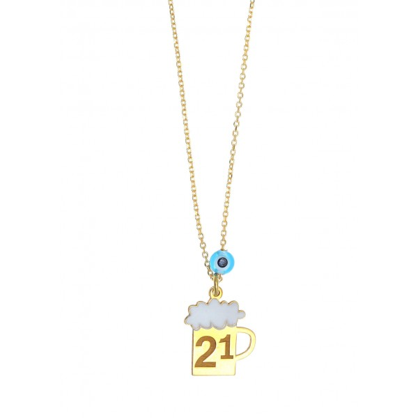 Necklace lucky charm 2021 silver 925 with eye GRE-59741