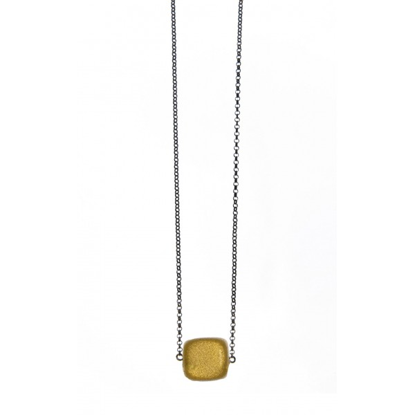 Κολιέ ασήμι 925 με μαύρη επιροδίωση και επισμαλτωμένες πέτρες GRE-58945