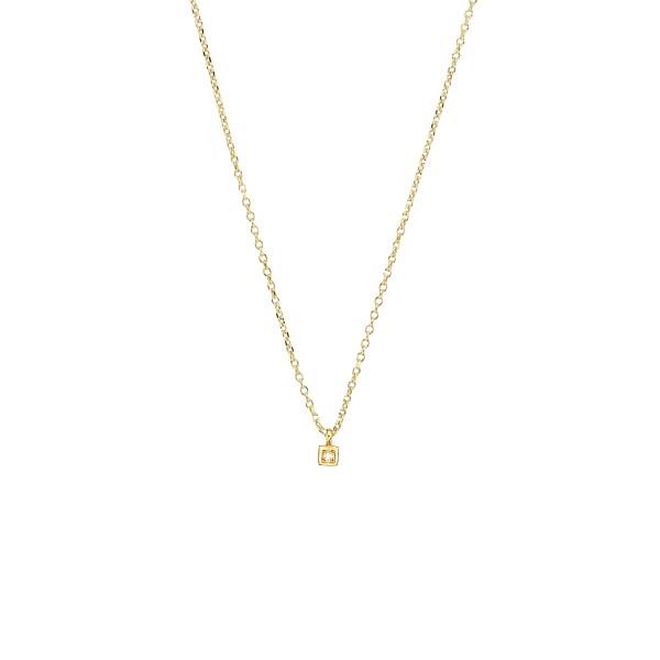 Χειροποίητο Μενταγιόν Χρυσό Κ14 Τετράγωνο KRI-E193