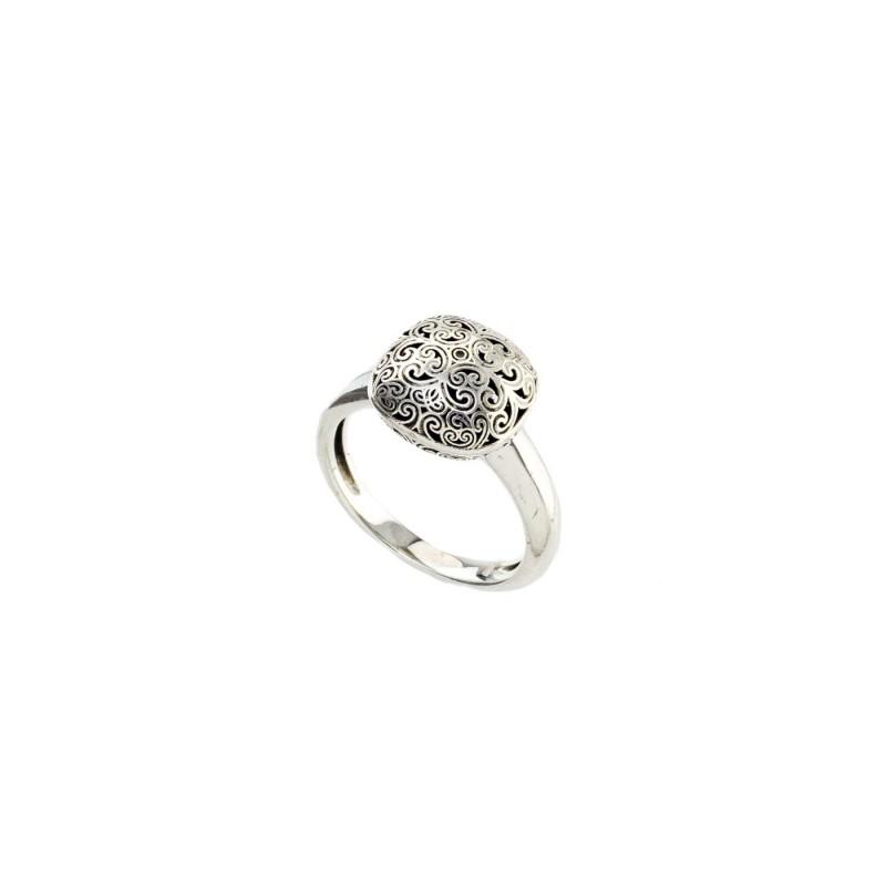 Δαχτυλίδι Τετράγωνο Καλλιστώ οξειδωμένο ασήμι 925 GER-R2035S