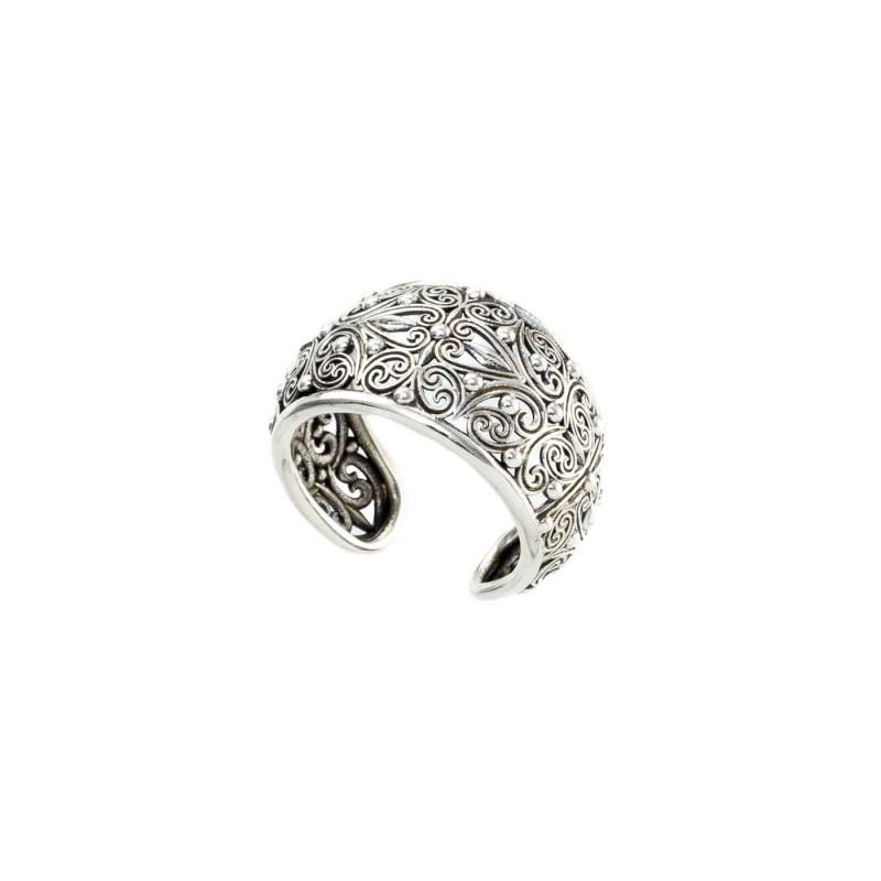 Δαχτυλίδι Καλλιστώ οξειδωμένο ασήμι 925 GER-R2008S