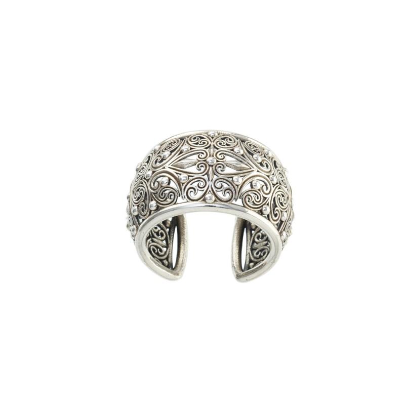 Δαχτυλίδι Καλλιστώ οξειδωμένο ασήμι 925 GER-R2005S