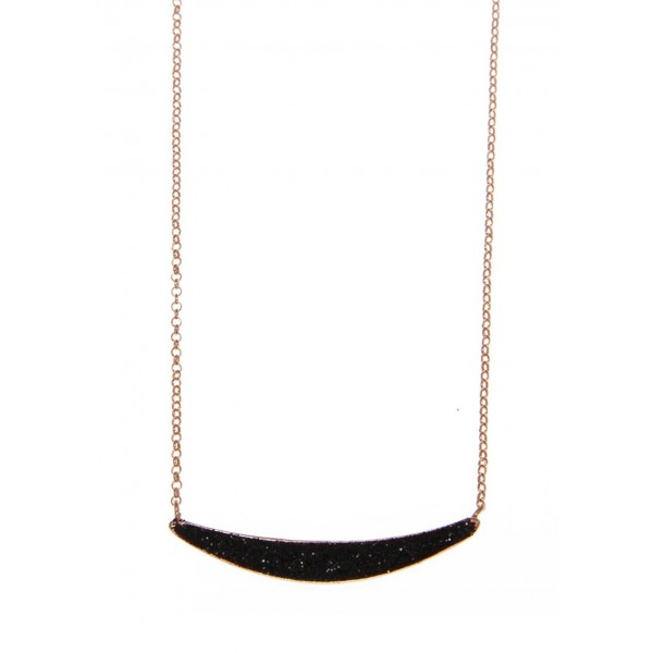 Necklace in silver 925 pink gold plated with glitter GRE-59074