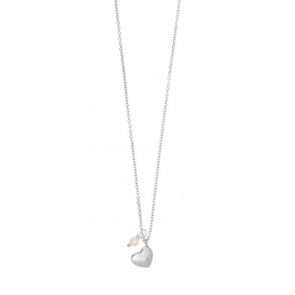 Κολιέ ασήμι 925, επιπλατινωμένο με μαργαριτάρι GRE-37279