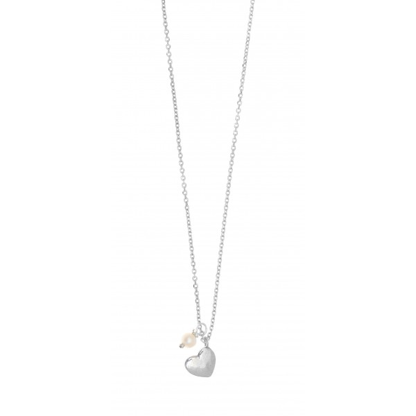 Necklace in silver 925 rhodium plated with fresh water pearl GRE-37279