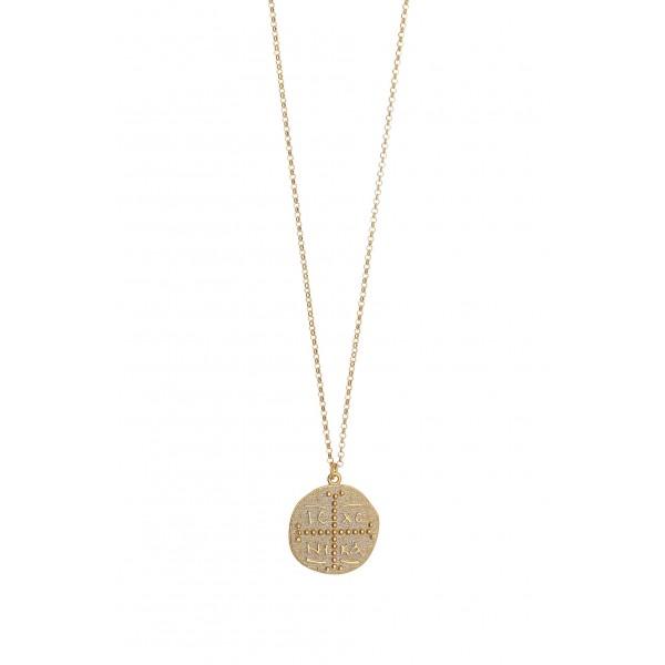 Κολιέ Κωνσταντινάτο ασήμι 925 επιχρυσωμένο GR-500916
