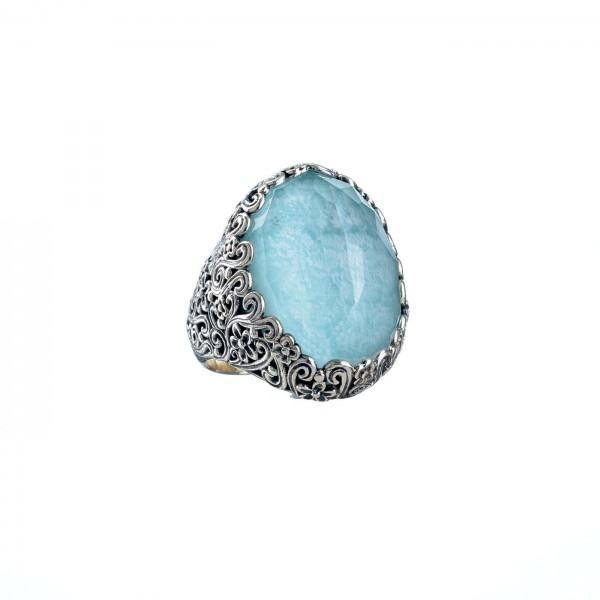 Δαχτυλίδι ασήμι 925 με ορυκτή πέτρα GER-2917