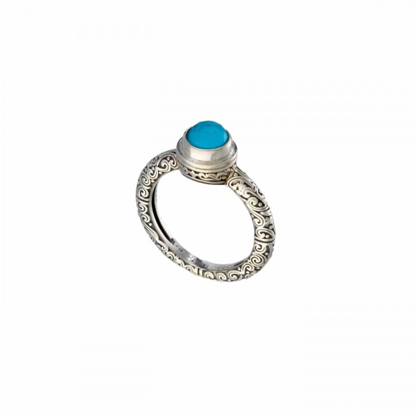 Δαχτυλίδι ασήμι 925 με ορυκτή πέτρα GER-20199