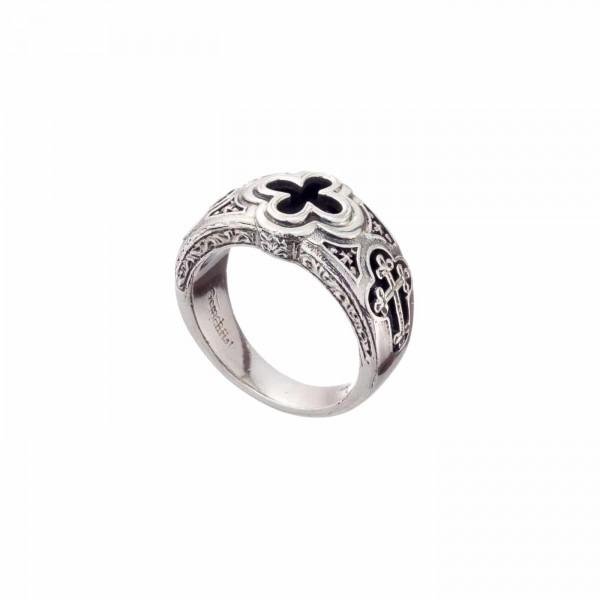 Χειροποίητο ανδρικό δαχτυλίδι ασήμι 925 με οξείδωση GER-2975