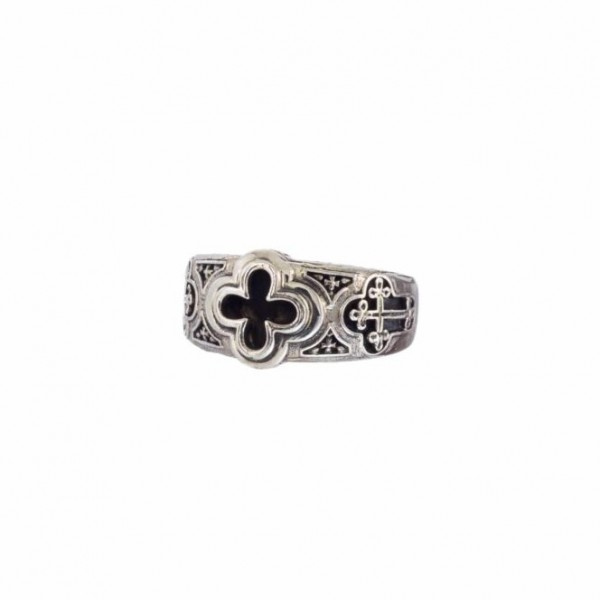 Odysseus ring in Sterling Silver Oxidized GER-2975
