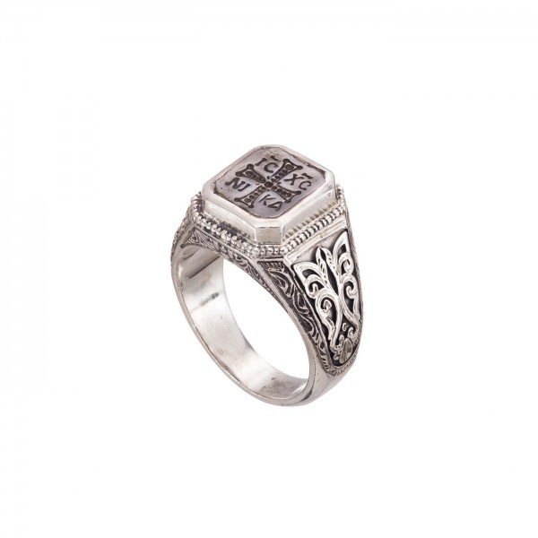 Men's Signet ring in Sterling Silver GER-2553
