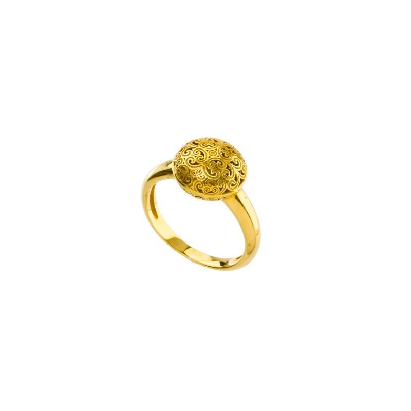 Χειροποίητο δαχτυλίδι ασήμι 925 επιχρυσωμένο GER-R2037G