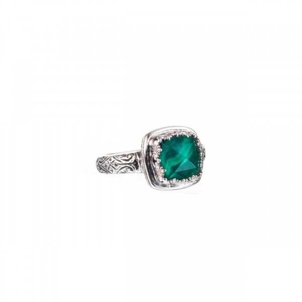 Iris ring in Sterling Silver with Gemstone GER-20036