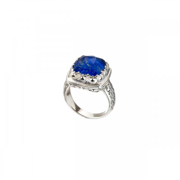 Χειροποίητο δαχτυλίδι ασήμι 925 με ορυκτή πέτρα GER-20043