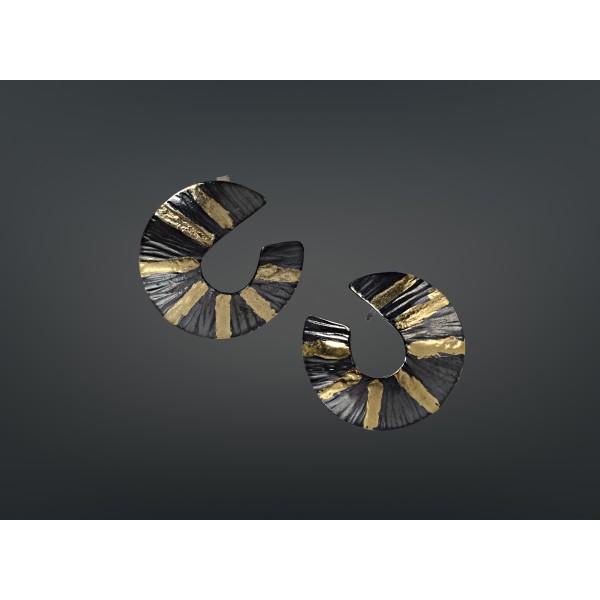 Χειροποίητα σκουλαρίκια 18Κ χρυσό με ασήμι 925° DEL-10SG129