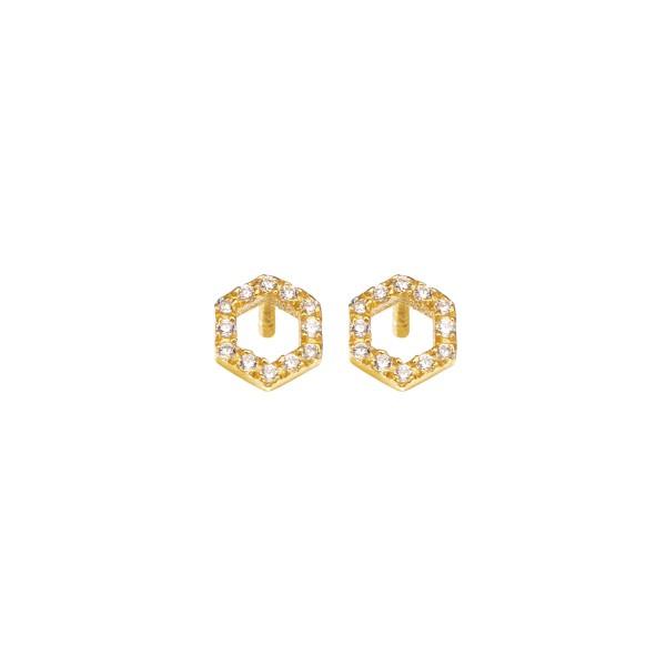 Χειροποίητα Καρφωτά Σκουλαρίκια Χρυσό Κ14 KRI-S/E183