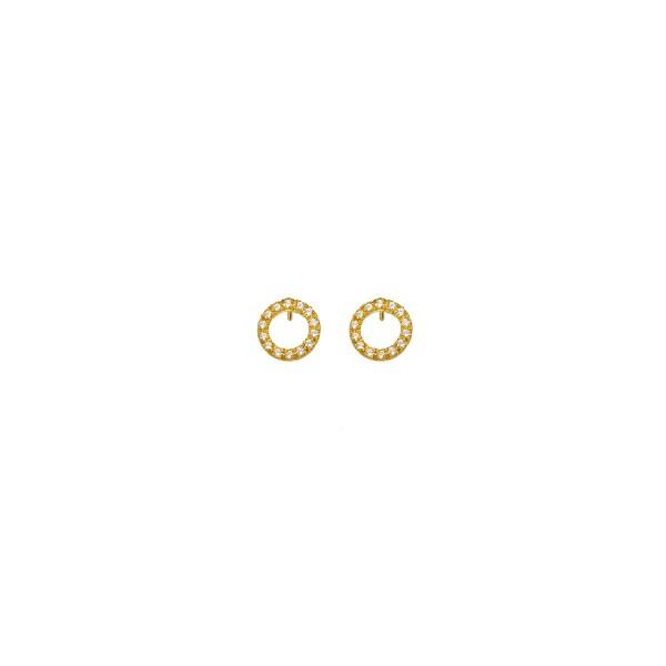 Χειροποίητα Καρφωτά Σκουλαρίκια Χρυσό Κ14 KRI-S/E41