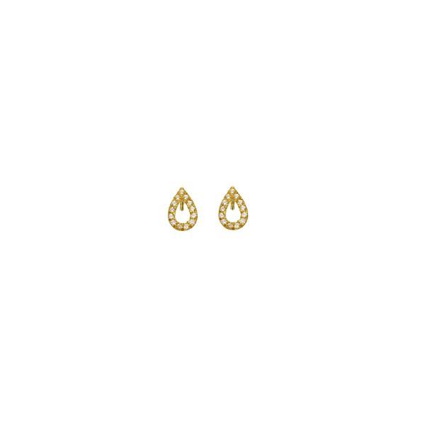 Χειροποίητα Καρφωτά Σκουλαρίκια Χρυσό Κ14 KRI-S/E33