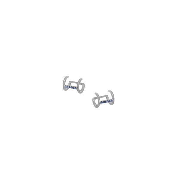 Ear Cuff μονό από ασήμι 925° με ζιργκόν