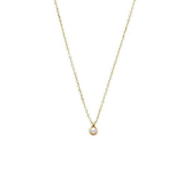 Χειροποίητο Μενταγιόν Χρυσό Κ14 με Μαργαριτάρι KRI-E98