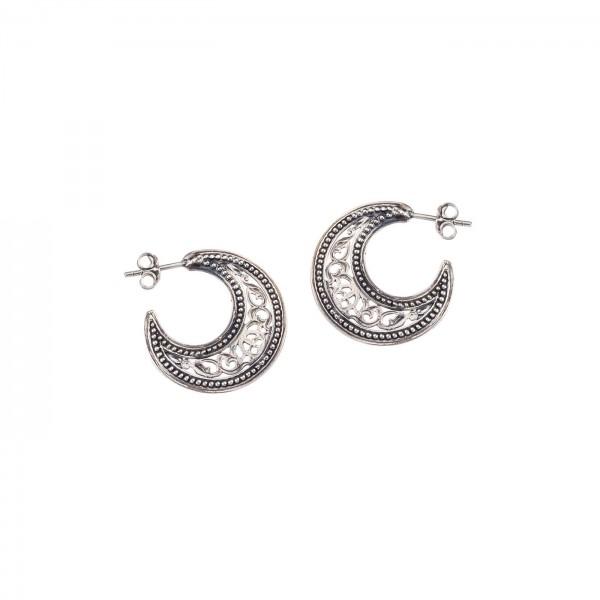 Χειροποίητα σκουλαρίκια κρίκοι ασήμι 925 GER-1702